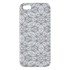 Background Wall Stone Carved White Apple Iphone 5 Premium Hardshell Case