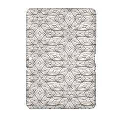 Background Wall Stone Carved White Samsung Galaxy Tab 2 (10 1 ) P5100 Hardshell Case