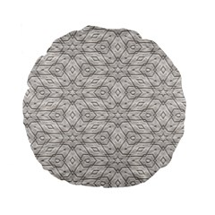 Background Wall Stone Carved White Standard 15  Premium Flano Round Cushions
