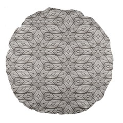 Background Wall Stone Carved White Large 18  Premium Flano Round Cushions