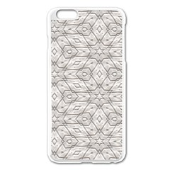 Background Wall Stone Carved White Apple Iphone 6 Plus/6s Plus Enamel White Case