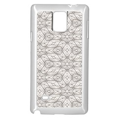 Background Wall Stone Carved White Samsung Galaxy Note 4 Case (white)