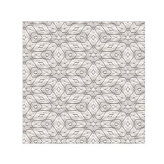 Background Wall Stone Carved White Small Satin Scarf (square)