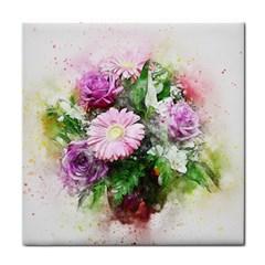 Flowers Roses Bouquet Art Nature Tile Coasters