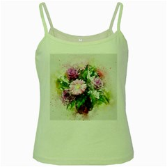 Flowers Roses Bouquet Art Nature Green Spaghetti Tank