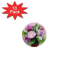 Flowers Roses Bouquet Art Nature 1  Mini Buttons (10 Pack)