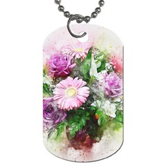 Flowers Roses Bouquet Art Nature Dog Tag (one Side)