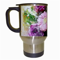 Flowers Roses Bouquet Art Nature Travel Mugs (white)