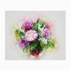 Flowers Roses Bouquet Art Nature Small Glasses Cloth