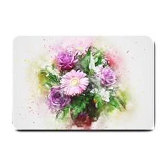 Flowers Roses Bouquet Art Nature Small Doormat