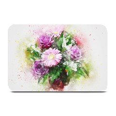 Flowers Roses Bouquet Art Nature Plate Mats