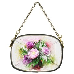 Flowers Roses Bouquet Art Nature Chain Purses (one Side)