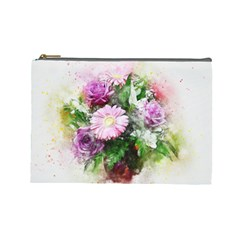 Flowers Roses Bouquet Art Nature Cosmetic Bag (large)