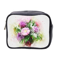 Flowers Roses Bouquet Art Nature Mini Toiletries Bag 2 Side