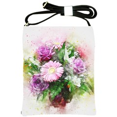 Flowers Roses Bouquet Art Nature Shoulder Sling Bags by Nexatart
