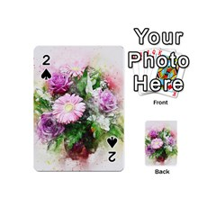 Flowers Roses Bouquet Art Nature Playing Cards 54 (mini)