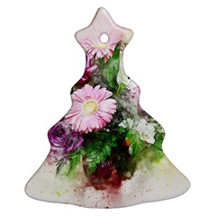 Flowers Roses Bouquet Art Nature Ornament (christmas Tree)