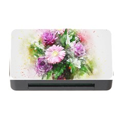 Flowers Roses Bouquet Art Nature Memory Card Reader With Cf