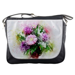 Flowers Roses Bouquet Art Nature Messenger Bags