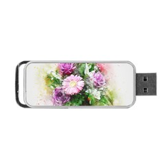 Flowers Roses Bouquet Art Nature Portable Usb Flash (two Sides)