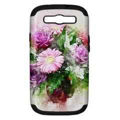 Flowers Roses Bouquet Art Nature Samsung Galaxy S Iii Hardshell Case (pc+silicone)