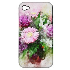 Flowers Roses Bouquet Art Nature Apple Iphone 4/4s Hardshell Case (pc+silicone)