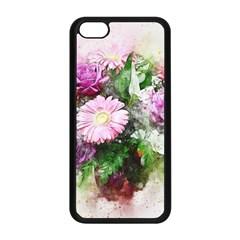 Flowers Roses Bouquet Art Nature Apple Iphone 5c Seamless Case (black)