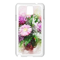 Flowers Roses Bouquet Art Nature Samsung Galaxy Note 3 N9005 Case (white)