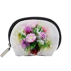 Flowers Roses Bouquet Art Nature Accessory Pouches (small)