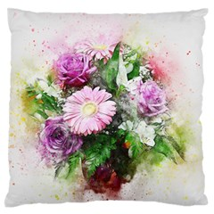 Flowers Roses Bouquet Art Nature Standard Flano Cushion Case (two Sides)