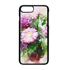 Flowers Roses Bouquet Art Nature Apple Iphone 7 Plus Seamless Case (black) by Nexatart