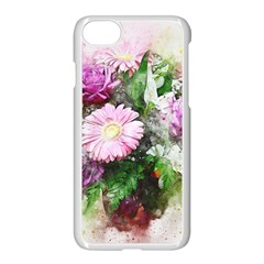 Flowers Roses Bouquet Art Nature Apple Iphone 8 Seamless Case (white)