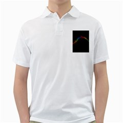 Background Light Glow Lines Colors Golf Shirts
