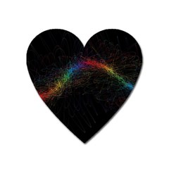 Background Light Glow Lines Colors Heart Magnet