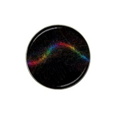 Background Light Glow Lines Colors Hat Clip Ball Marker (4 Pack)