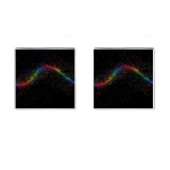 Background Light Glow Lines Colors Cufflinks (square)