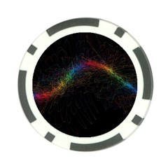Background Light Glow Lines Colors Poker Chip Card Guard
