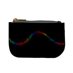 Background Light Glow Lines Colors Mini Coin Purses