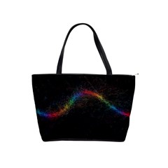 Background Light Glow Lines Colors Shoulder Handbags