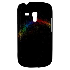 Background Light Glow Lines Colors Galaxy S3 Mini by Nexatart