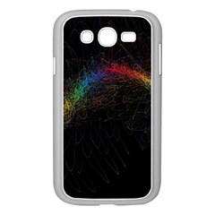 Background Light Glow Lines Colors Samsung Galaxy Grand Duos I9082 Case (white) by Nexatart