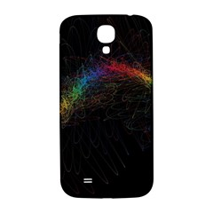 Background Light Glow Lines Colors Samsung Galaxy S4 I9500/i9505  Hardshell Back Case