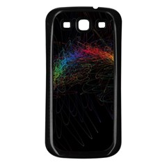 Background Light Glow Lines Colors Samsung Galaxy S3 Back Case (black)