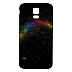 Background Light Glow Lines Colors Samsung Galaxy S5 Back Case (white)