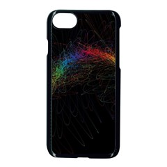 Background Light Glow Lines Colors Apple Iphone 7 Seamless Case (black)