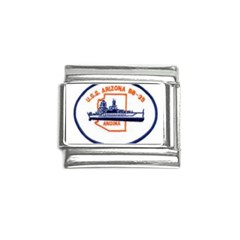 USS Arizona Emb Italian Charm (9mm) from ArtsNow.com Front