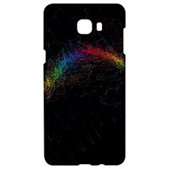 Background Light Glow Lines Colors Samsung C9 Pro Hardshell Case