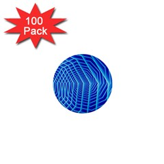 Blue Background Light Glow Abstract Art 1  Mini Buttons (100 Pack)