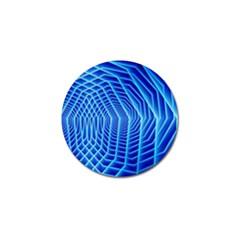 Blue Background Light Glow Abstract Art Golf Ball Marker