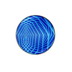 Blue Background Light Glow Abstract Art Hat Clip Ball Marker (4 Pack)
